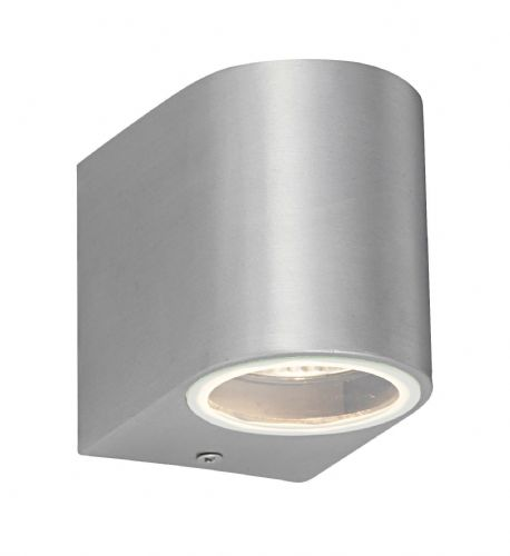 Brushed alloy & clear glass Outdoor Wall Light 43655 by Endon
